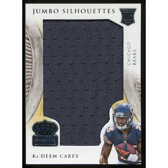 2014 Crown Royale Jumbo Silhouettes #JSKC Ka'Deem Carey serial #70/99