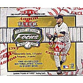 2002 Fleer Focus Jersey Edition Baseball Hobby Box