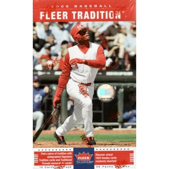 2006 Fleer Tradition Baseball Hobby Box