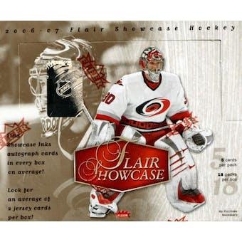 2006/07 Fleer Flair Showcase Hockey Hobby Box (UD)
