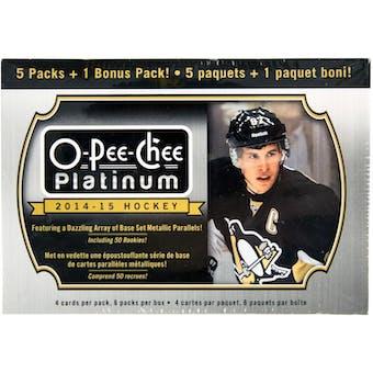 2014/15 Upper Deck O-Pee-Chee Platinum Hockey 6-Pack Box