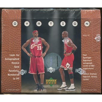 2006/07 Upper Deck Ovation Basketball Hobby Box