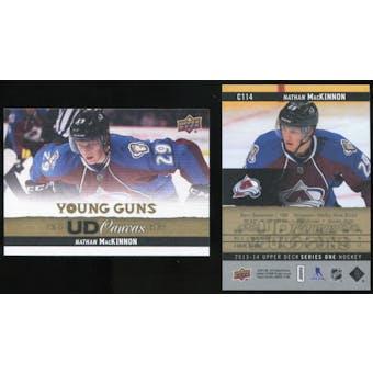 2013-14 Upper Deck Canvas #C114 Nathan MacKinnon YG RC Young Guns Rookie Card