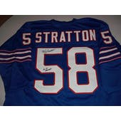 Mike Stratton Autographed Buffalo Bills AFL Football Jersey