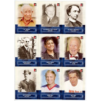 2011 In The Game Canadiana Blue Complete 100 Card Set