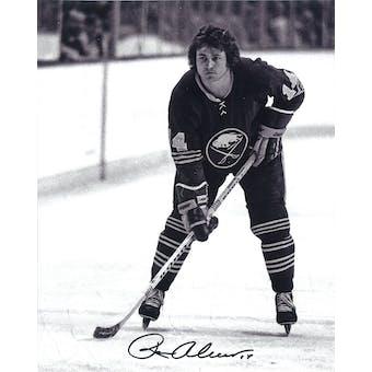Rene Robert Autographed Buffalo Sabres 8x10 BW Hockey Photo