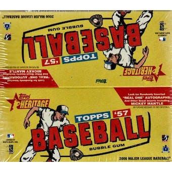2006 Topps Heritage Baseball 24 Pack Box