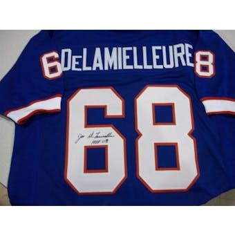 Joe DeLamielleure Autographed Buffalo Bills Blue Football Jersey DACW