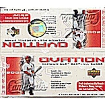 2002 Upper Deck Ovation Baseball Hobby Box