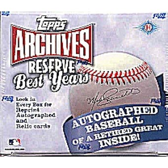 2002 Topps Archives Reserve Best Years Baseball Hobby Box