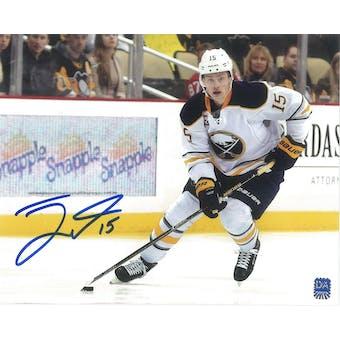 Jack Eichel #15 Autographed Buffalo Sabres 8x10 White Jersey Photo
