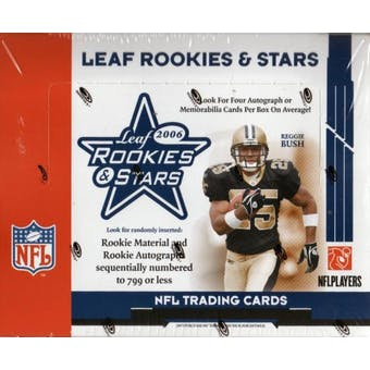 2006 Leaf Rookies & Stars Football Hobby Box