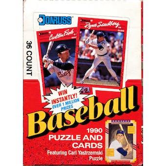 1990 Donruss Baseball Wax Box