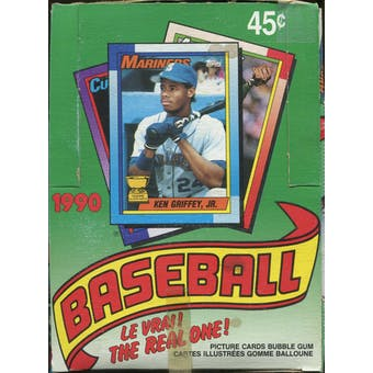 1990 O Pee Chee Baseball Wax Box