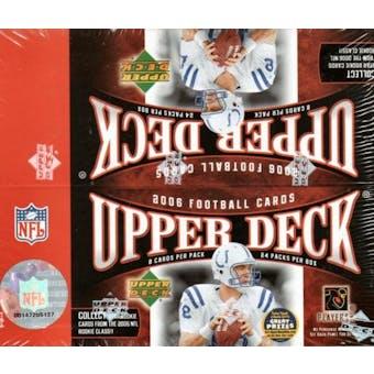 2006 Upper Deck Football 24 Pack Box
