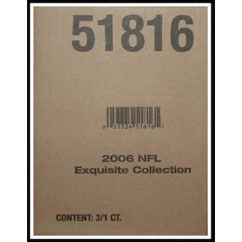 2006 Upper Deck Exquisite Football Hobby 3-Box Case