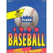 1990 Fleer Baseball Rack Box (Reed Buy)