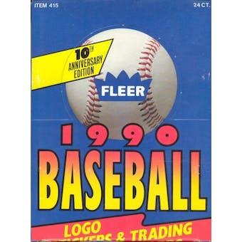1990 Fleer Baseball Rack Box (Reed Buy)