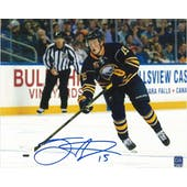 Jack Eichel #15 Autographed Buffalo Sabres 8x10 Blue Jersey Photo