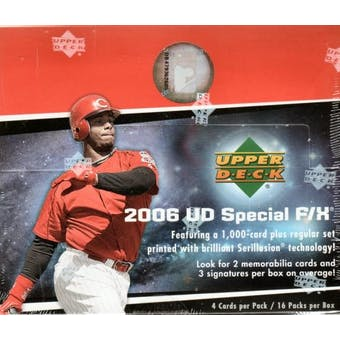 2006 Upper Deck Special F/X Baseball Hobby Box