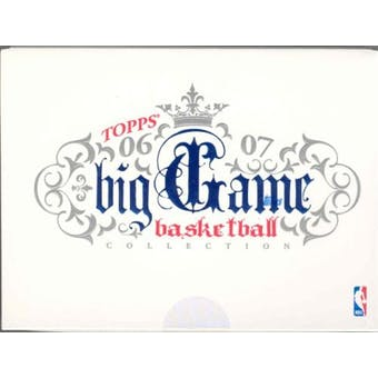 2006/07 Topps Big Game Collection Basketball Hobby Box