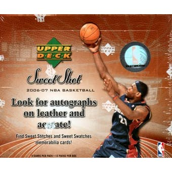 2006/07 Upper Deck Sweet Shot Basketball Hobby Box
