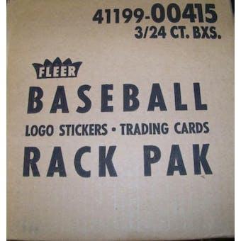 1990 Fleer Baseball Rack 3-Box Case