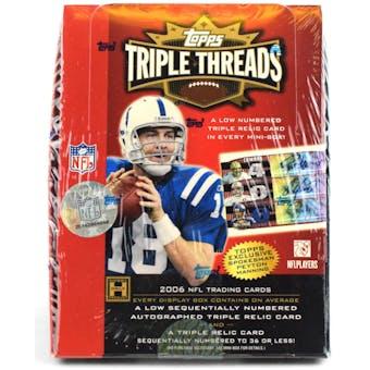 2006 Topps Triple Threads Football Hobby Box