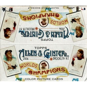 2006 Topps Allen & Ginter Baseball 24 Pack Box