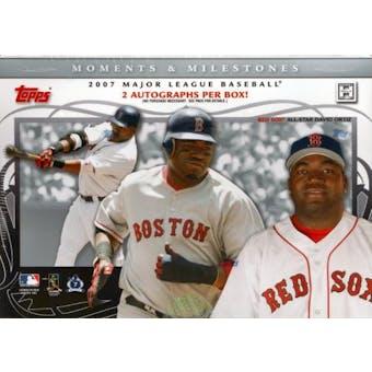 2007 Topps Moments & Milestones Baseball Hobby Box