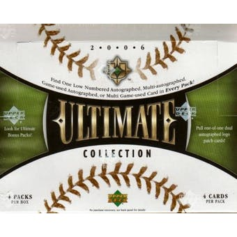 2006 Upper Deck Ultimate Collection Baseball Hobby Box