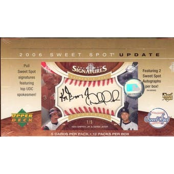 2006 Upper Deck Sweet Spot Update Baseball Hobby Box