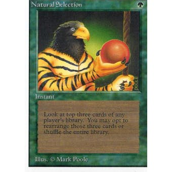Magic the Gathering Unlimited Single Natural Selection - MODERATE PLAY (MP)