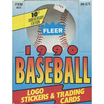 1990 Fleer Baseball Wax Box (Reed Buy)