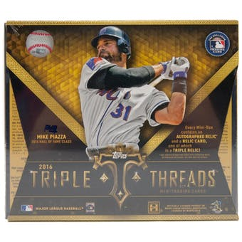 2016 Topps Triple Threads Baseball Hobby Box