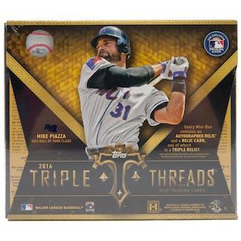 2016 Topps Triple Threads Baseball Hobby Box
