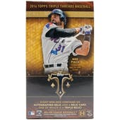2016 Topps Triple Threads Baseball Hobby Mini-Box