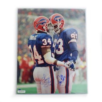 Thurman Thomas Andre Reed Autographed Buffalo Bills 16x20 Photo