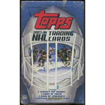 2003/04 Topps Hockey Retail Box