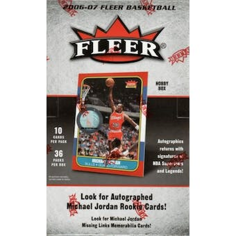 2006/07 Fleer Basketball Hobby Box
