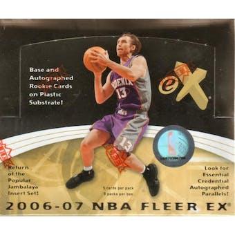 2006/07 Fleer E-X Basketball Hobby Box