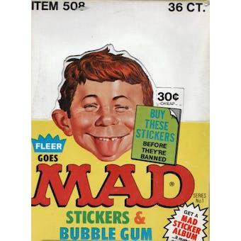Mad Stickers Wax Box (1983 Fleer)