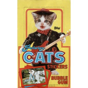 Perlorian Cats Stickers Wax Box (1983 Topps)