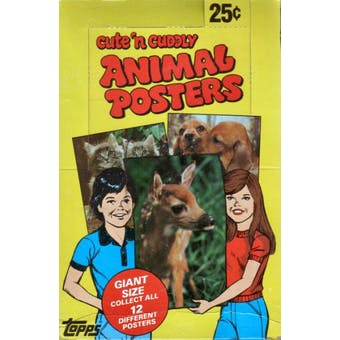 Cute 'n Cuddly Animal Posters Wax Box (1981 Topps)