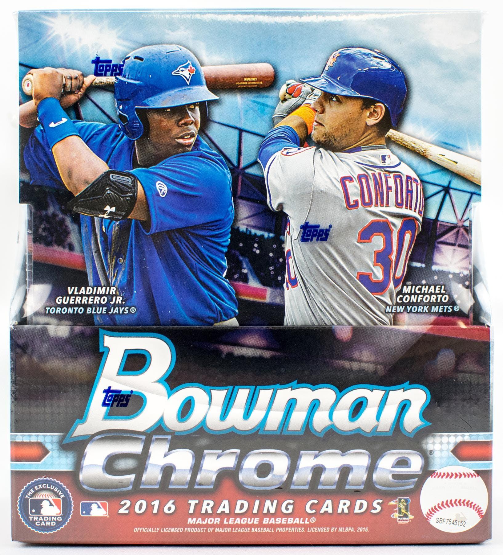 2016 Bowman Chrome Baseball Hobby Box Da Card World