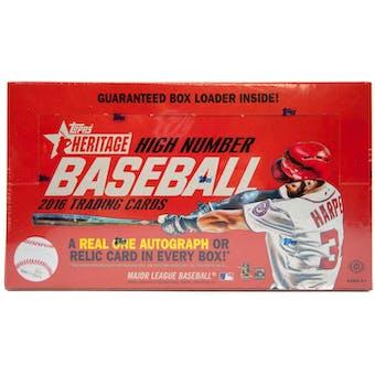 2016 Topps Heritage High Number Baseball Hobby Box