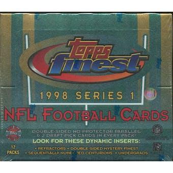 1998 Topps Finest Series 1 Football Jumbo Box
