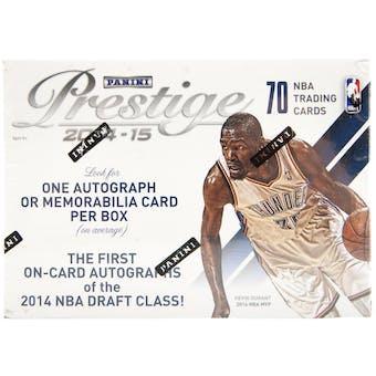2014/15 Panini Prestige Basketball Blaster Box (One Auto or Memorabilia Card Per Box!)