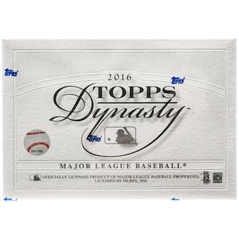2016 Topps Dynasty Baseball Hobby Box