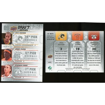 2009/10 Upper Deck Draft Edition Draft Class #DMFC Eric Maynor Jonny Flynn Stephen Curry